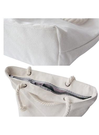 Else Halı Pembe Beyaz Çiçekli 3D Desenli Fermuarlı Kumaş Omuz Çantası Renkli